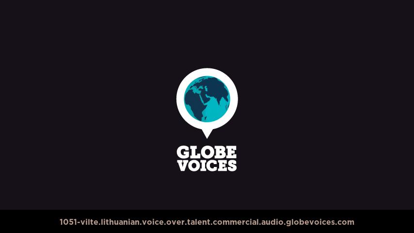 Lithuanian voice over talent artist actor - 1051-Vilte commercial