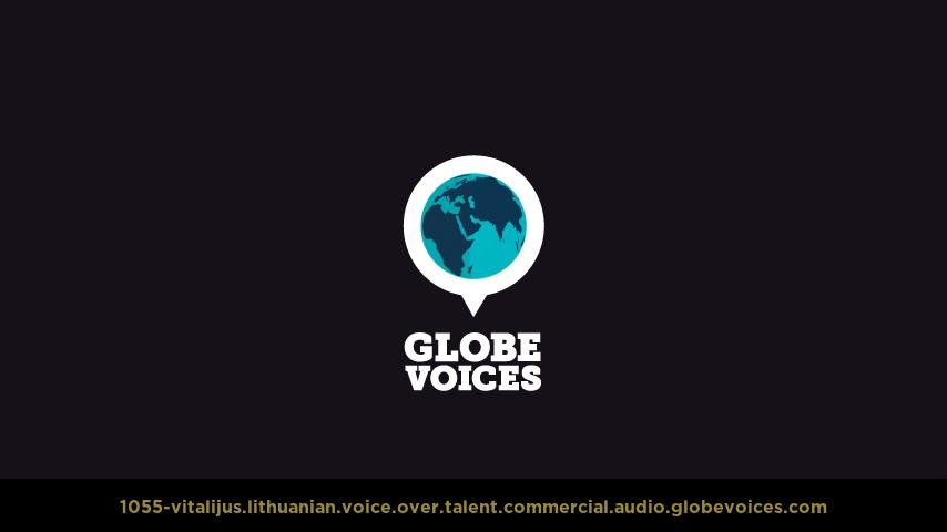 Lithuanian voice over talent artist actor - 1055-Vitalijus commercial