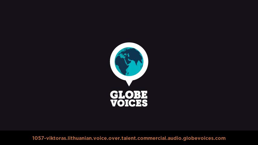 Lithuanian voice over talent artist actor - 1057-Viktoras commercial