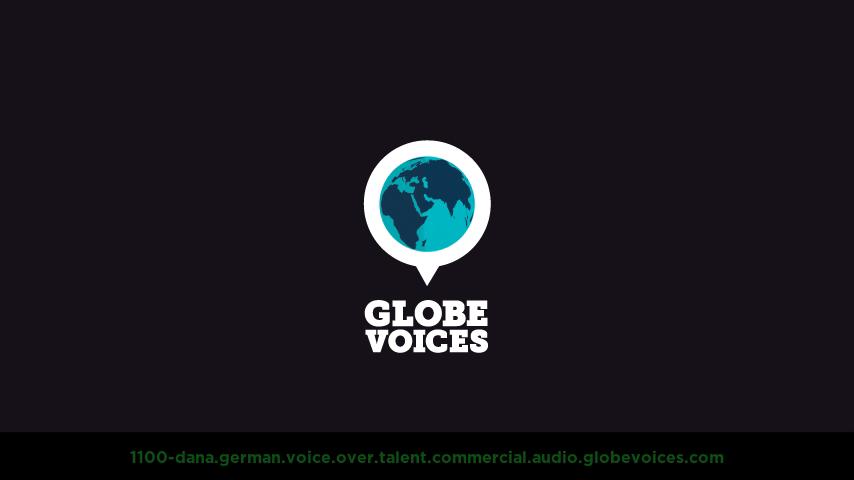 German voice over talent artist actor - 1100-Dana commercial