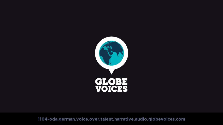 German voice over talent artist actor - 1104-Oda narrative