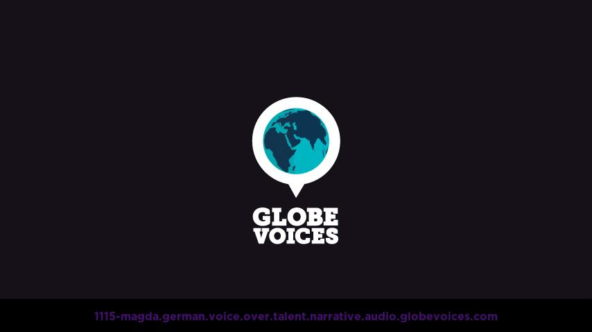 German voice over talent artist actor - 1115-Magda narrative