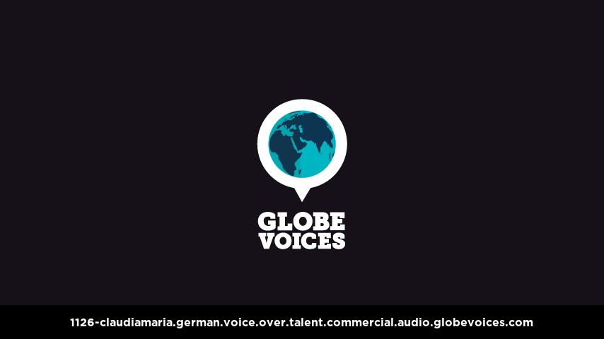 German voice over talent artist actor - 1126-Claudiamaria commercial