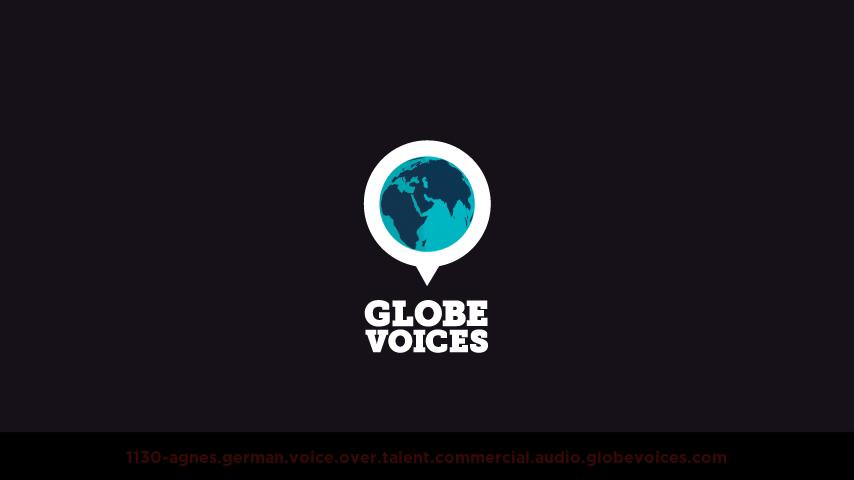 German voice over talent artist actor - 1130-Agnes commercial