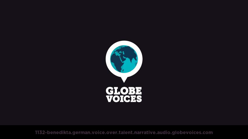 German voice over talent artist actor - 1132-Benedikta narrative
