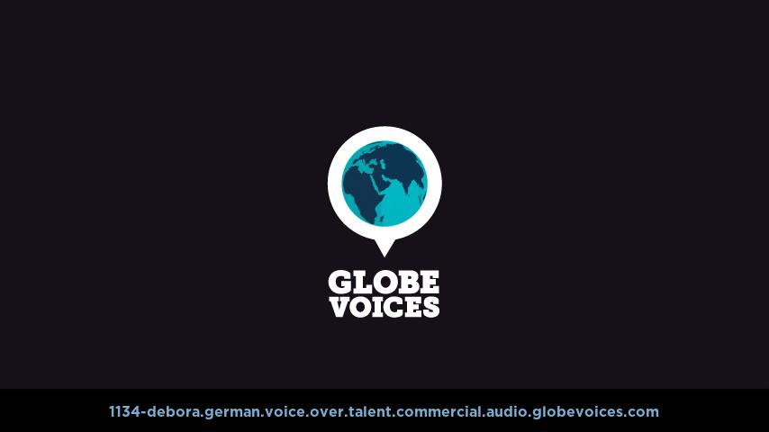 German voice over talent artist actor - 1134-Debora commercial