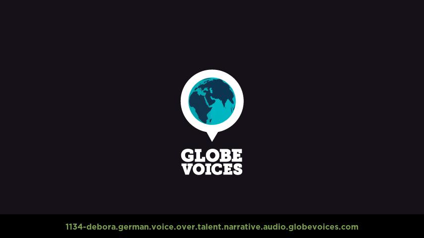 German voice over talent artist actor - 1134-Debora narrative
