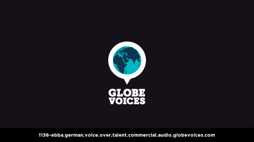 German voice over talent artist actor - 1136-Ebba commercial
