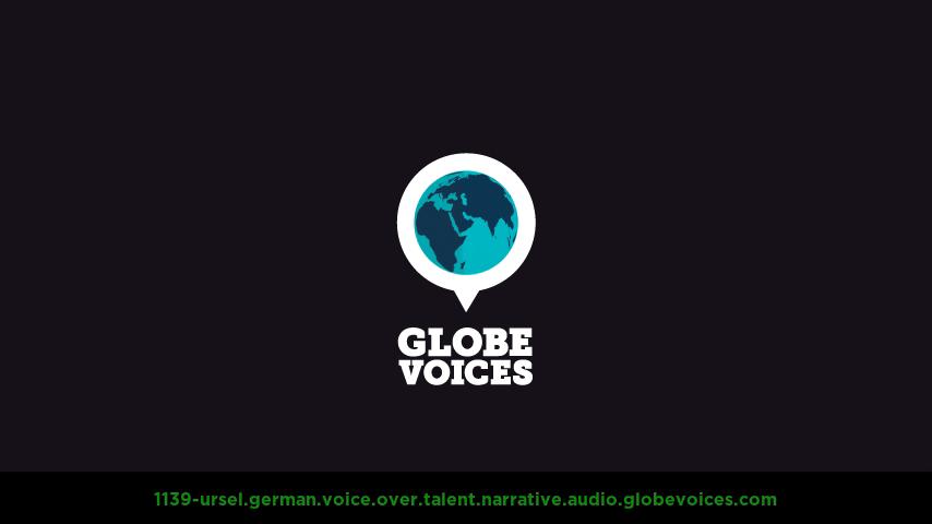 German voice over talent artist actor - 1139-Ursel narrative