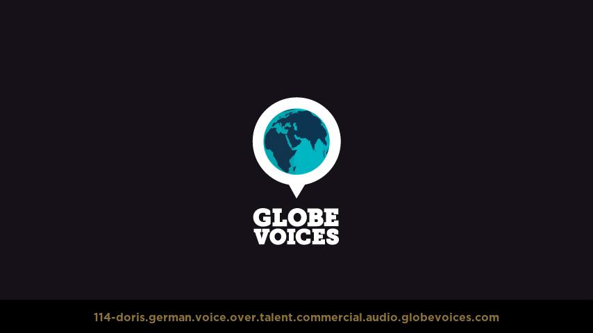 German voice over talent artist actor - 114-Doris commercial