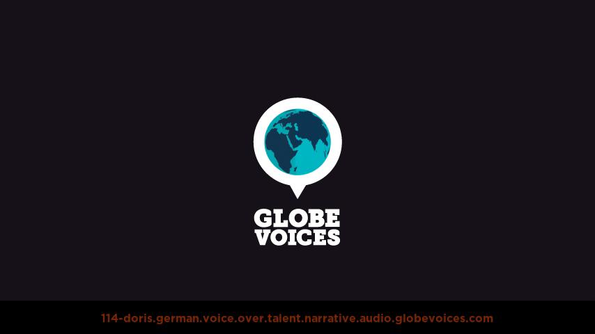 German voice over talent artist actor - 114-Doris narrative
