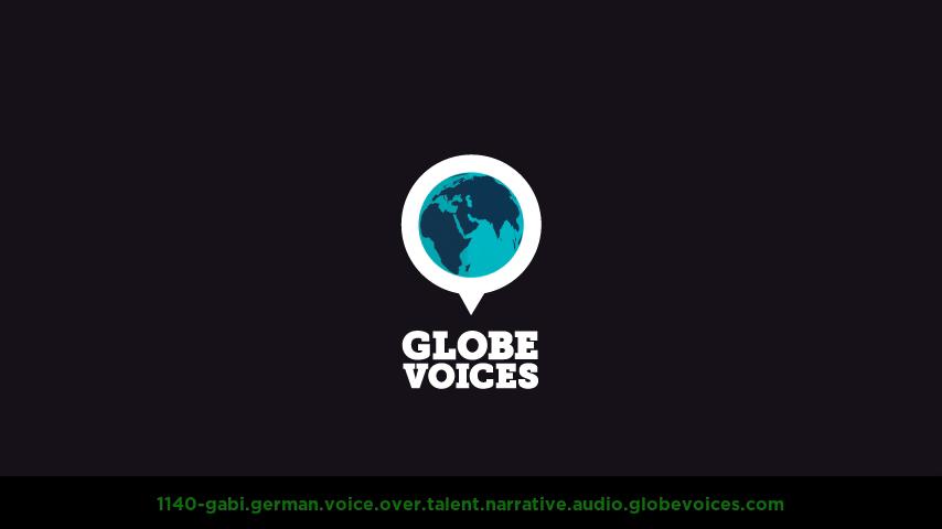 German voice over talent artist actor - 1140-Gabi narrative