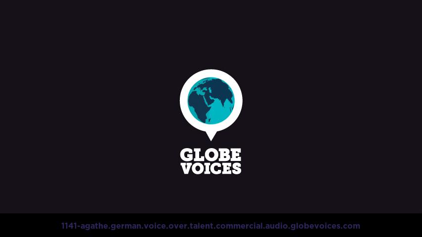 German voice over talent artist actor - 1141-Agathe commercial