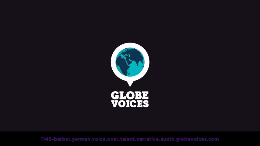 German voice over talent artist actor - 1146-Barbel narrative