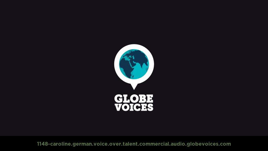 German voice over talent artist actor - 1148-Caroline commercial