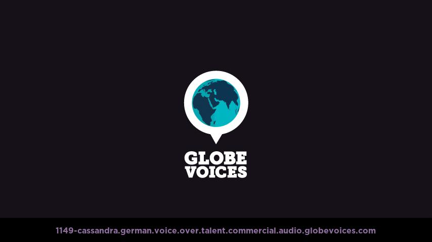 German voice over talent artist actor - 1149-Cassandra commercial