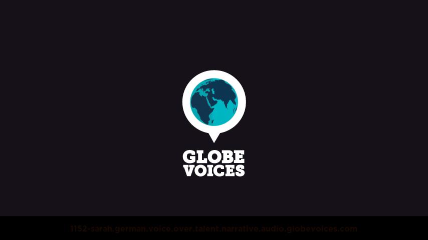 German voice over talent artist actor - 1152-Sarah narrative