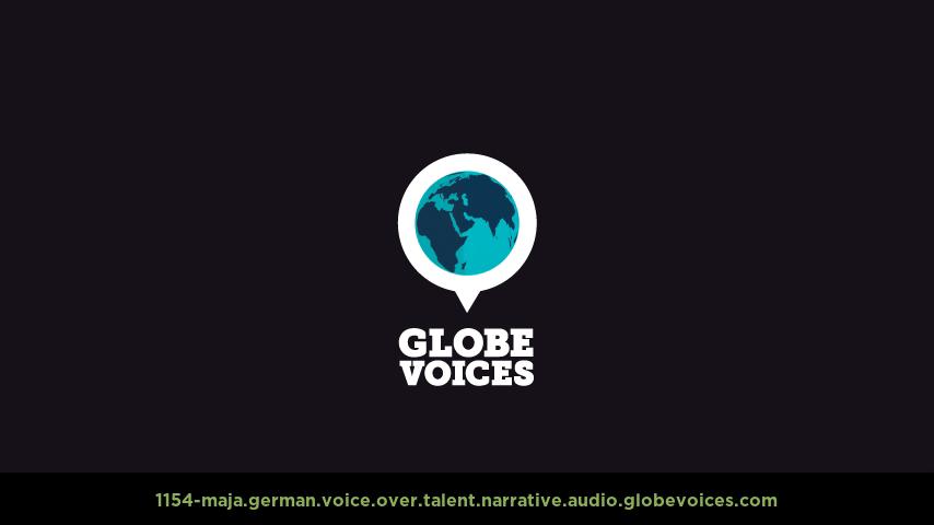 German voice over talent artist actor - 1154-Maja narrative