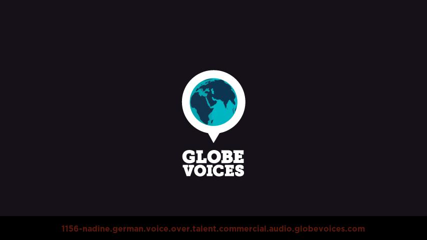 German voice over talent artist actor - 1156-Nadine commercial