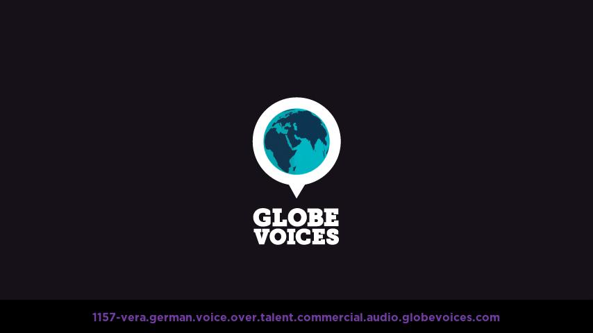 German voice over talent artist actor - 1157-Vera commercial