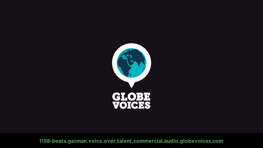 German voice over talent artist actor - 1158-Beata commercial