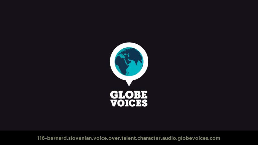 Slovenian voice over talent artist actor - 116-Bernard character