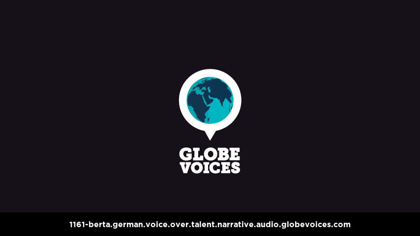 German voice over talent artist actor - 1161-Berta narrative