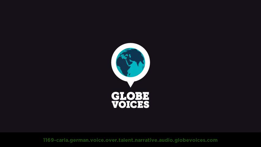 German voice over talent artist actor - 1169-Carla narrative