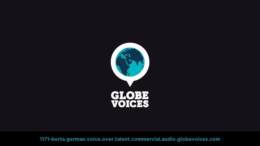 German voice over talent artist actor - 1171-Berta commercial