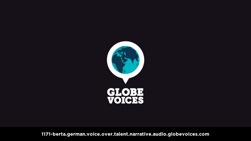 German voice over talent artist actor - 1171-Berta narrative