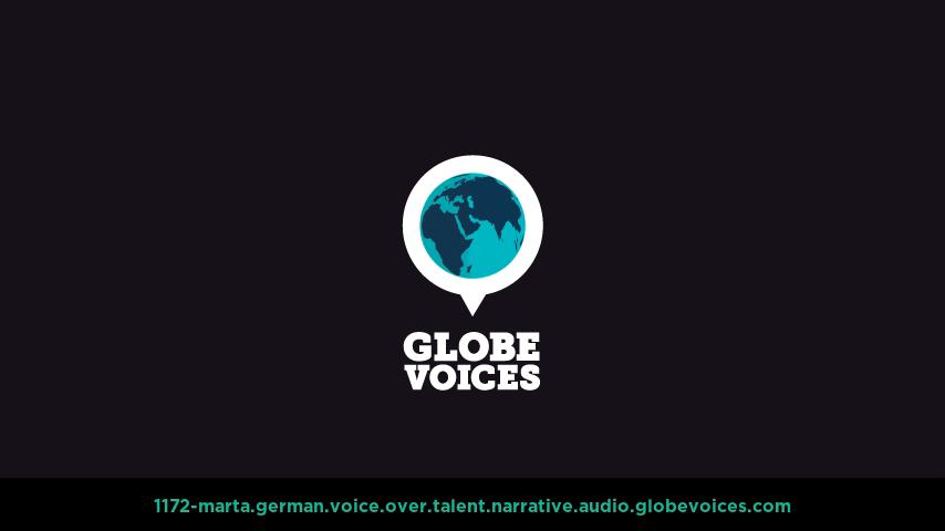 German voice over talent artist actor - 1172-Marta narrative