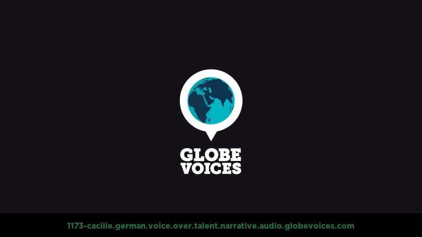 German voice over talent artist actor - 1173-Cacilie narrative