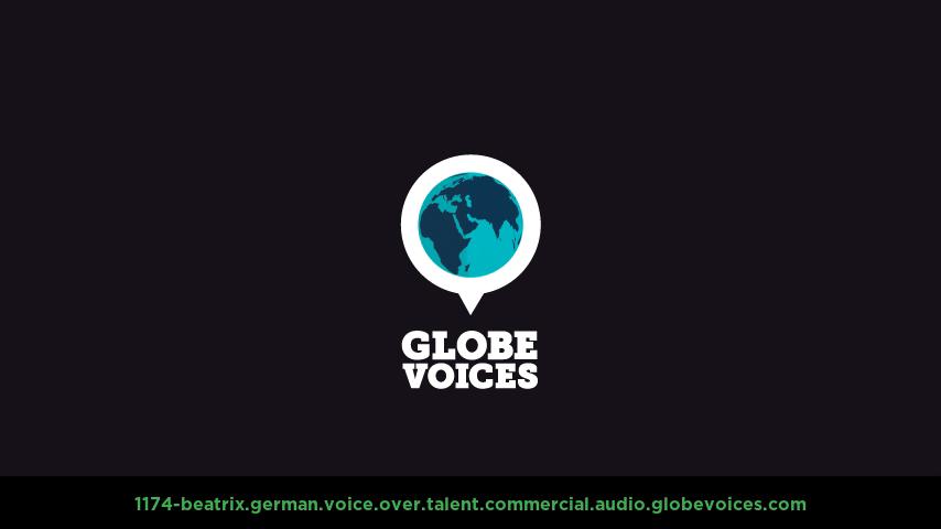 German voice over talent artist actor - 1174-Beatrix commercial