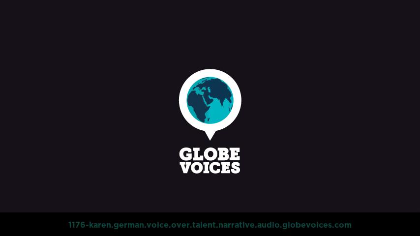 German voice over talent artist actor - 1176-Karen narrative