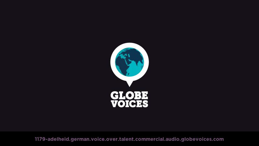 German voice over talent artist actor - 1179-Adelheid commercial