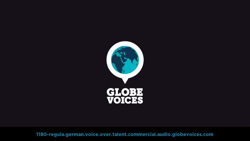 German voice over talent artist actor - 1180-Regula commercial