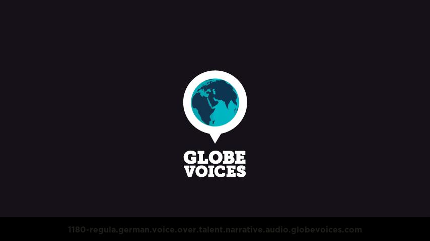 German voice over talent artist actor - 1180-Regula narrative