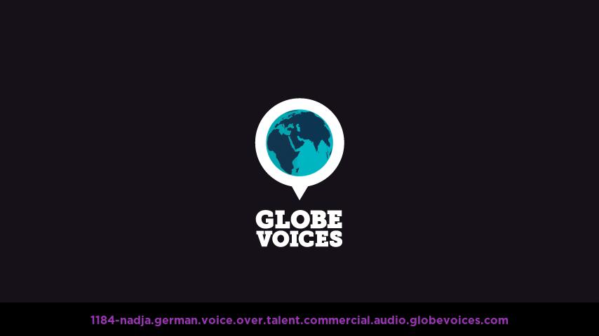 German voice over talent artist actor - 1184-Nadja commercial