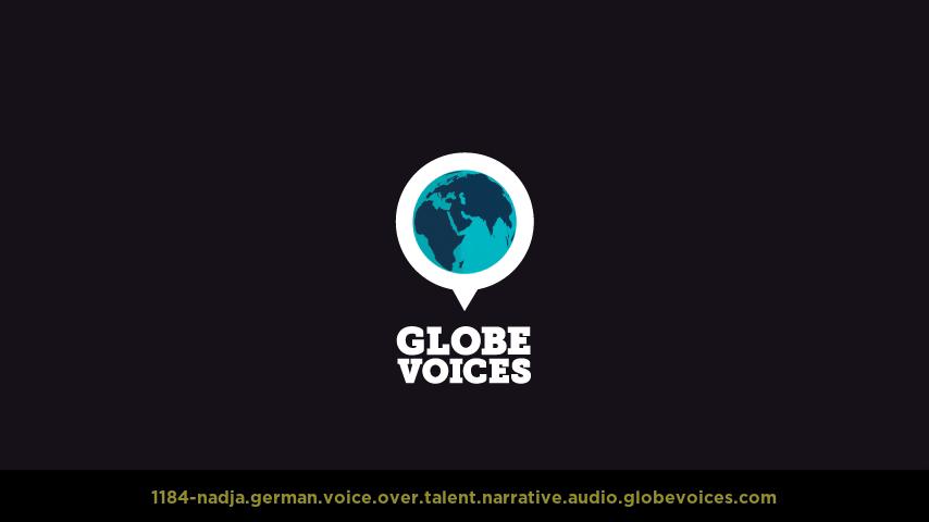 German voice over talent artist actor - 1184-Nadja narrative