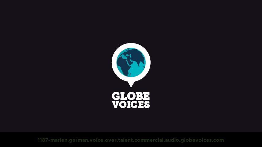 German voice over talent artist actor - 1187-Marlen commercial