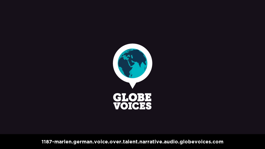 German voice over talent artist actor - 1187-Marlen narrative