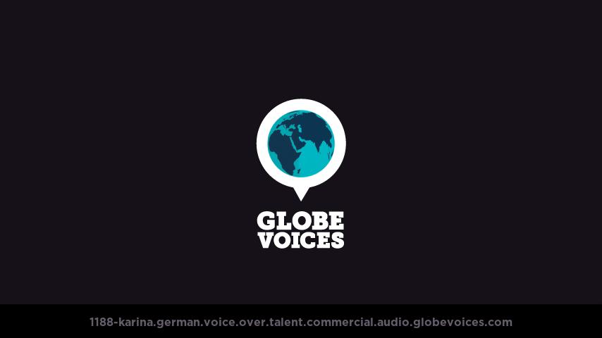 German voice over talent artist actor - 1188-Karina commercial