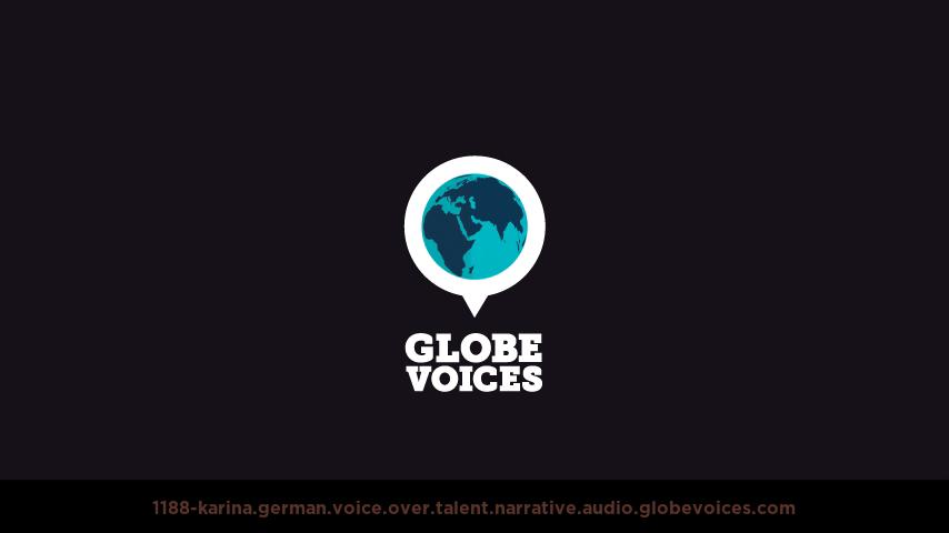 German voice over talent artist actor - 1188-Karina narrative