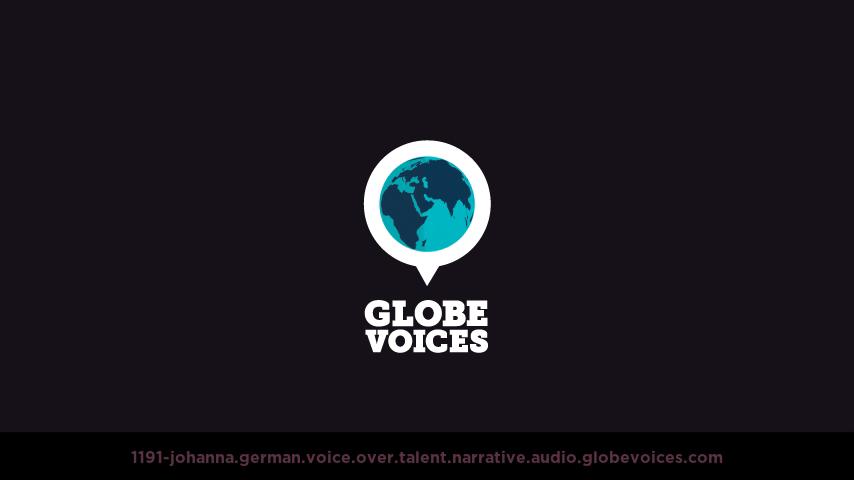 German voice over talent artist actor - 1191-Johanna narrative