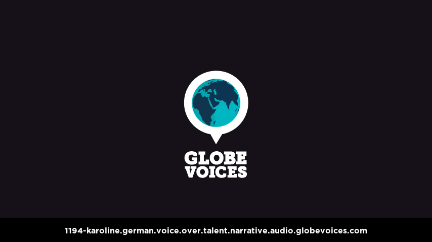 German voice over talent artist actor - 1194-Karoline narrative