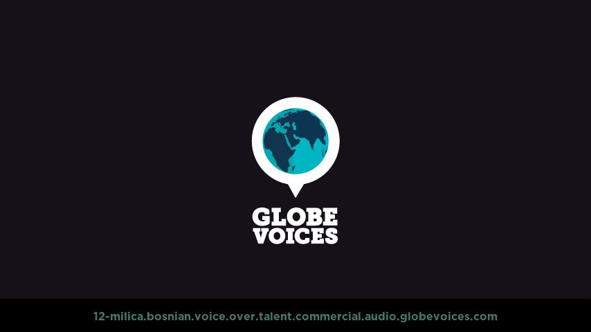 Bosnian voice over talent artist actor - 12-Milica commercial