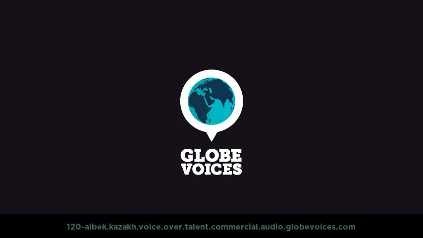 Kazakh voice over talent artist actor - 120-Aibek commercial