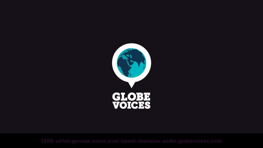 German voice over talent artist actor - 1206-Ulrich character