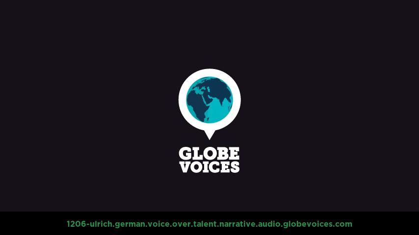 German voice over talent artist actor - 1206-Ulrich narrative