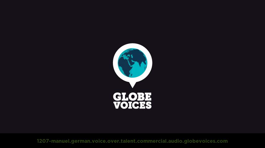 German voice over talent artist actor - 1207-Manuel commercial